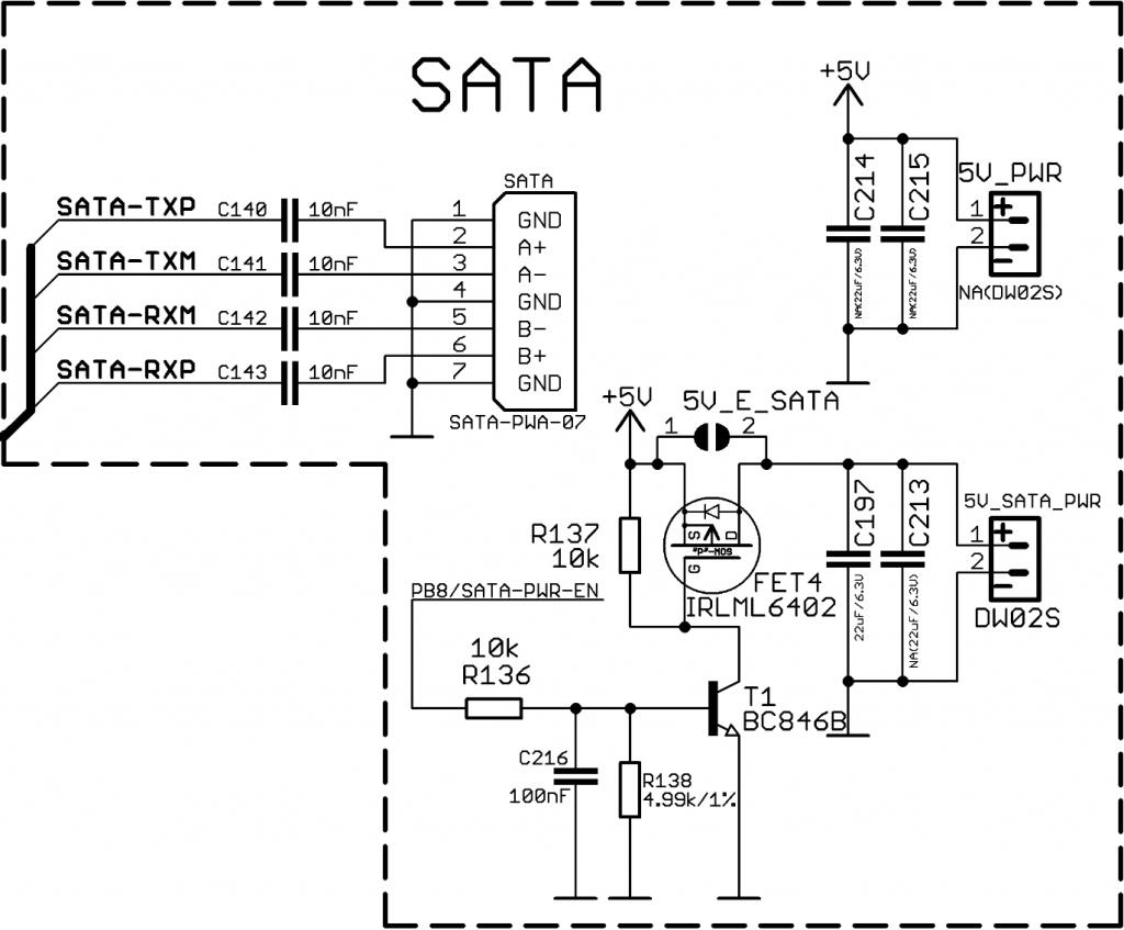 OLinuXino-MICRO Rev.E SATA