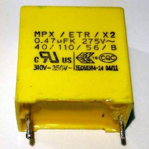 MPX ETC X2 0.47µF 275V